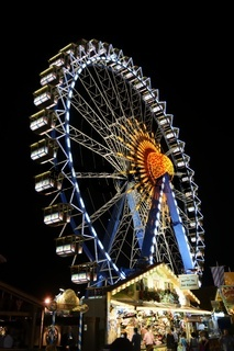 Illuminated Ferris Wheel at Oktoberfest