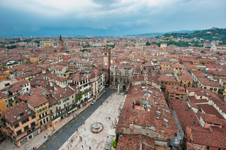 Panorama of Verona, Italy