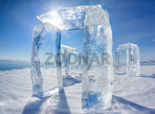 Icehange - stonehenge made from ice