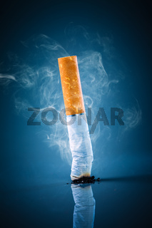 Cigarette butt - No smoking.