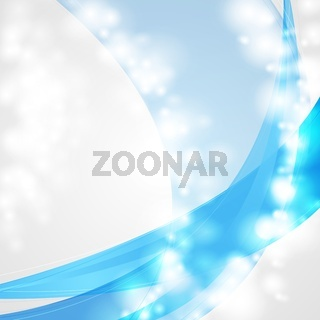 Abstract shiny blue background. Vector template eps 10