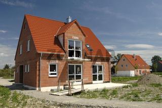 Rohbau von einem privaten Einfamilienhaus