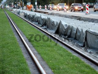 Rasengleise für Strassenbahn in Darmstadt