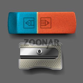 Sharpener and eraser