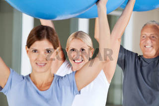 Reha-Übungen im Fitnesscenter