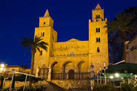 Cathedral of Cefalu during twilight
