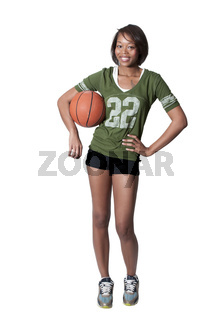 Black Woman Playing Basketball