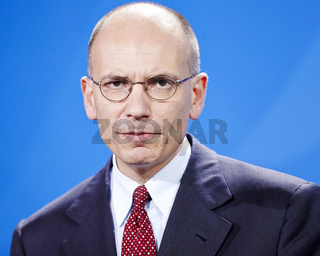 German Chancellor Angela Merkel, and the new Prime Minister of Italia, Enrico Letta - Press conference