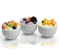 Yogurt  Assortment With Fruits And Berries