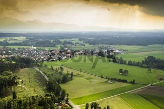 panoramic aerial view Bavaria