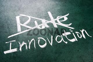 Break the rule for innovation
