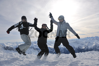 people group on snow at winter season