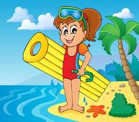 Summer water activity theme 6 - picture illustration.