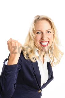 Attraktive junge Frau hat es geschafft
