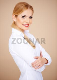 Portrait of a blond