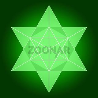 Merkaba aus Licht - Grün