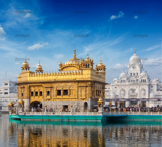 Sikh gurdwara Golden Temple (Harmandir Sahib). Amritsar