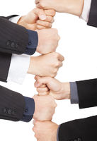 hands of businessman with teamwork concept