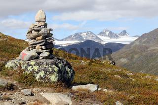 Wegweiser, Cairn, Jotunheimen, Norwegen, Norway