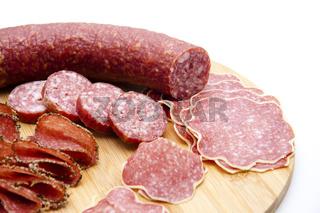 Verschiedene Salami
