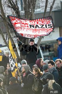 Protest gegen 'Pro Köln' Kundgebung.