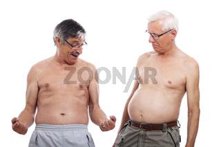 Seniors compare body shape