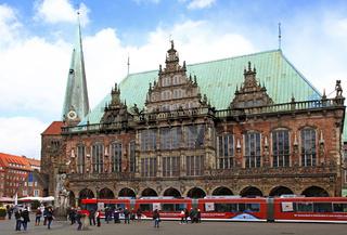 Rathaus Bremen, Deutschland, city hall of Bremen, Germany
