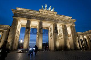 Brandenburg Gate illuminated at night