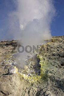 Schwefelausduenstung Insel Vulcano, Äolische Inseln, Italien, Europa