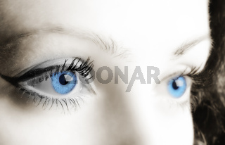 Female blue eyes