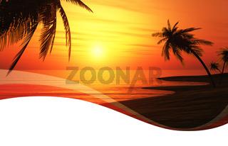 Einladungskarte mit Wellen - Sunset Chillout