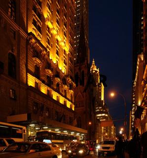 New York City Street at Night