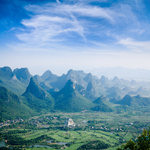 guilin hills,beautiful karst mountain landscape