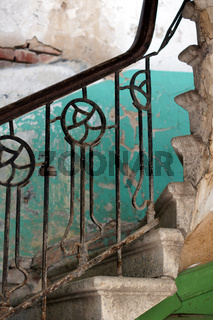 Old staircase in Tbilisi houses of 18-19 centuries, Republic of Georgia