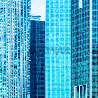 Urban buildings skyscrapers background
