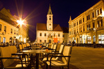 Baroque town of Varazdin city center