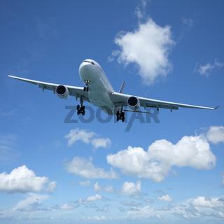 Jet plane in flight