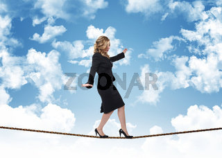 woman on rope