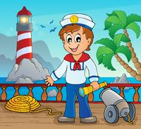 Image with sailor theme 2 - picture illustration.