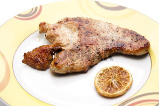 Puten Steak mit Zitrone