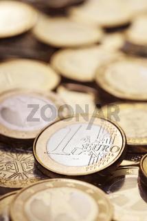 Anzahl Euromünzen als Nahaufnahme