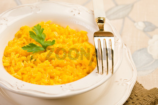 Risotto with saffron