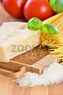 Parmesan mit Spaghetti