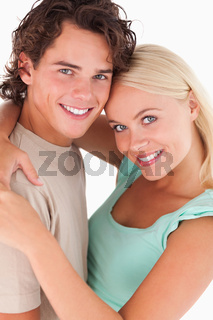 Close up of a happy couple smiling