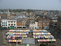 Marktbuden in Cambridge