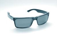Retro-styled sunglasses isolated on white background