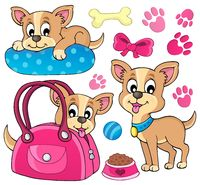 Cute dog theme image 1 - picture illustration.