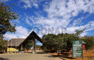 Sedudu Entrance Gate, Chobe Nationalpark, Botswana, Botsuana
