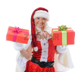Christmas Smiling Woman