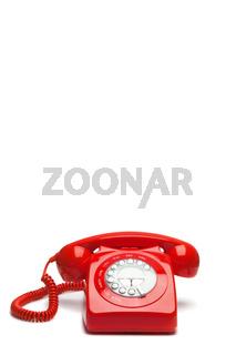 Antique red phone